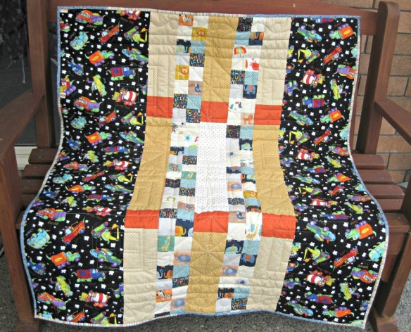 Backing on quilt